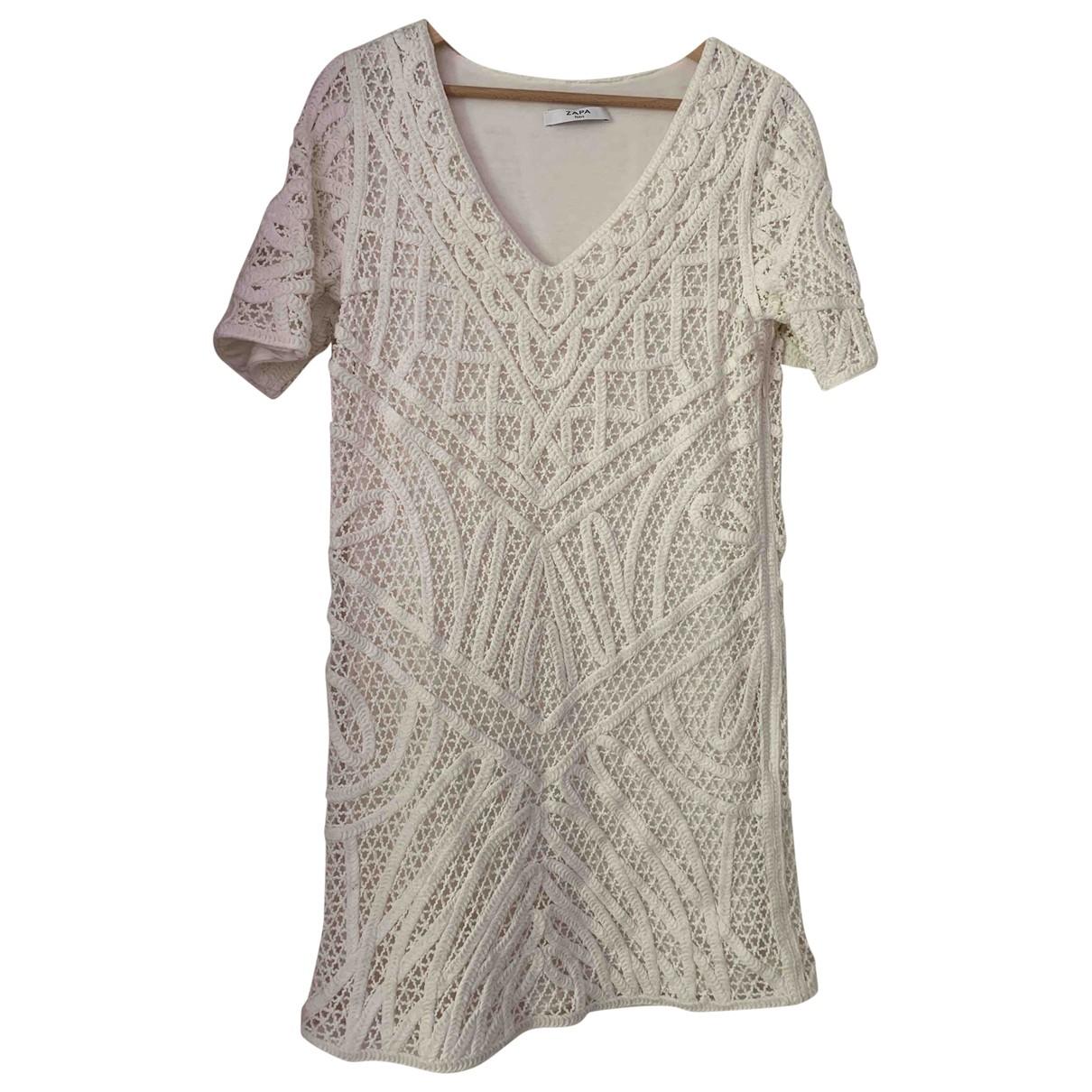 Zapa - Robe   pour femme en coton - blanc