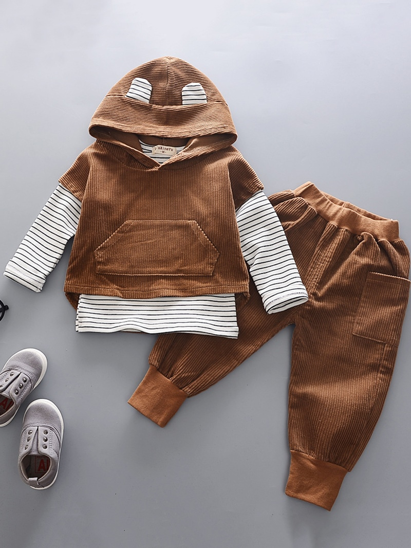 Ericdress Stripe T-Shirt Vest And Pant Baby Boy's 3-Piece Outfit
