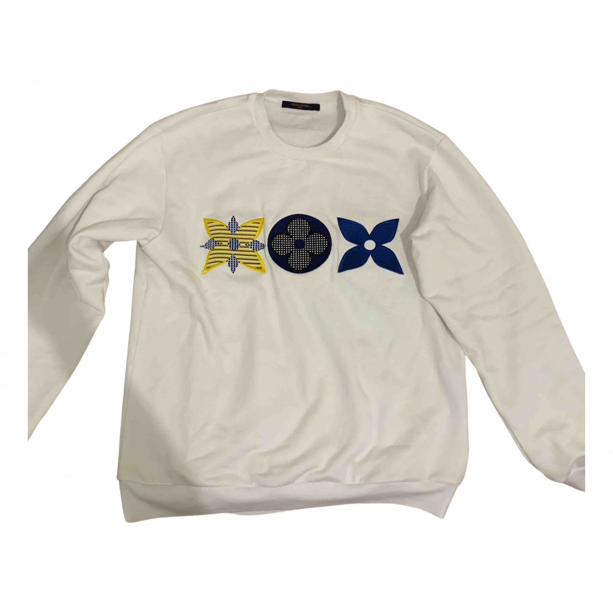 Louis Vuitton \N Pullover.Westen.Sweatshirts  in  Weiss Baumwolle