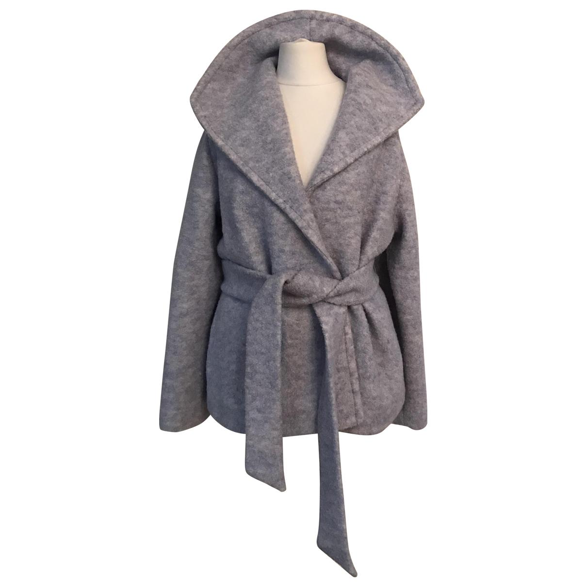 Ganni - Manteau   pour femme en laine - bleu