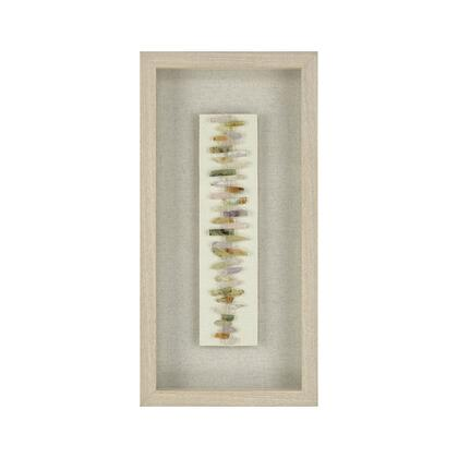 3168-054 Zip Line Wall Decor  In Washed Pine Frame  Natural Linen  Semi Precious