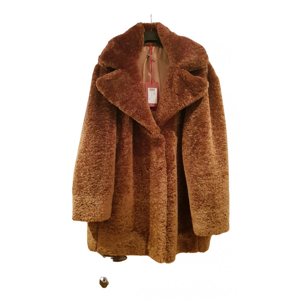 Imperial - Manteau   pour femme en fourrure synthetique - camel