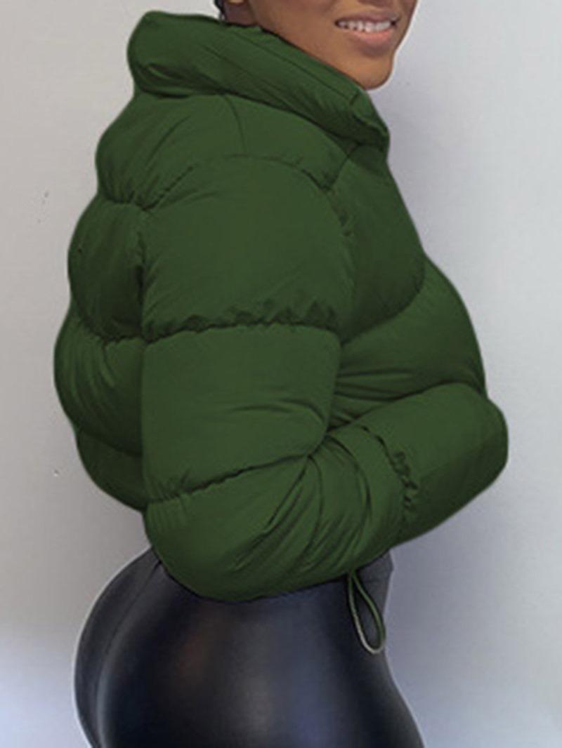 Ericdress Zipper Slim Thick Short Cotton Padded Jacket
