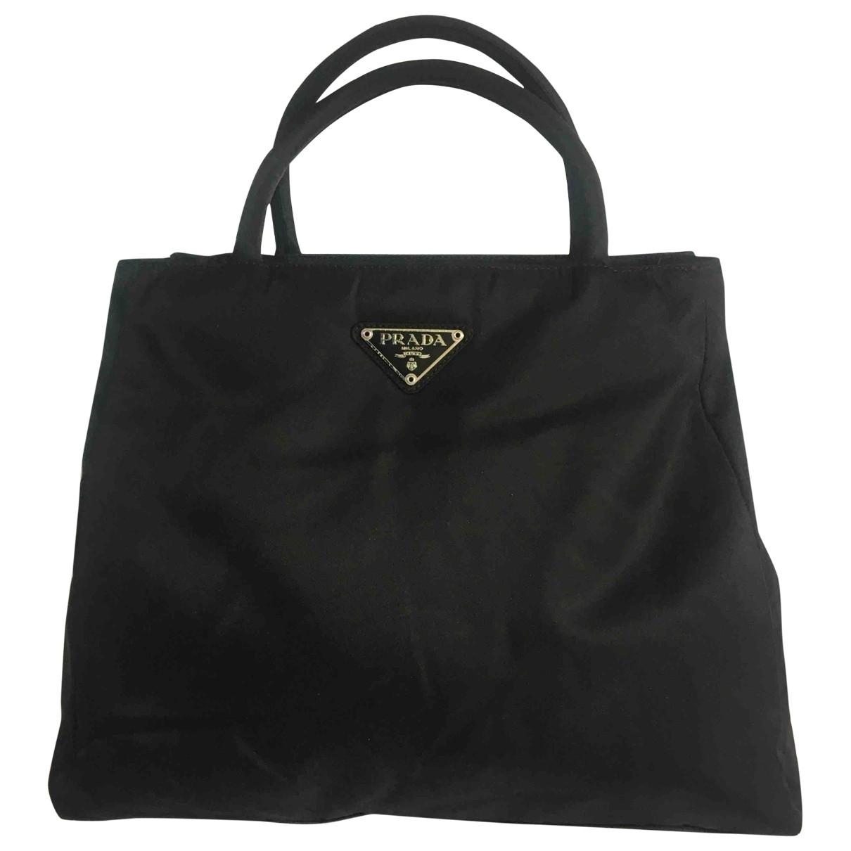 Prada \N Handtasche in  Schwarz Leinen