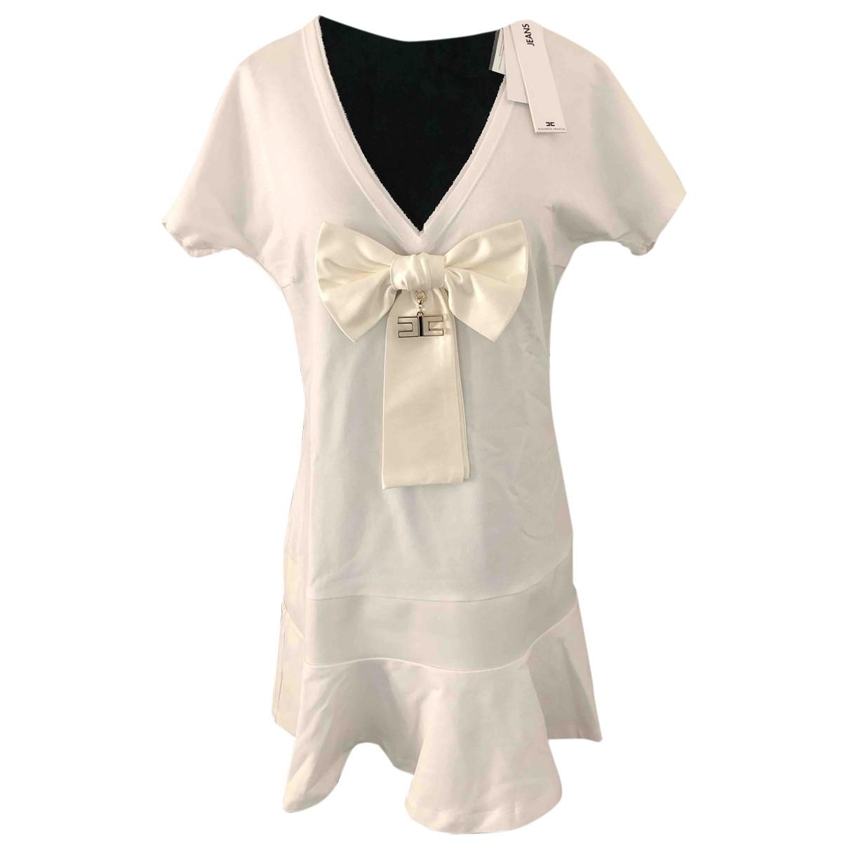 Elisabetta Franchi \N White Cotton dress for Women 40 IT
