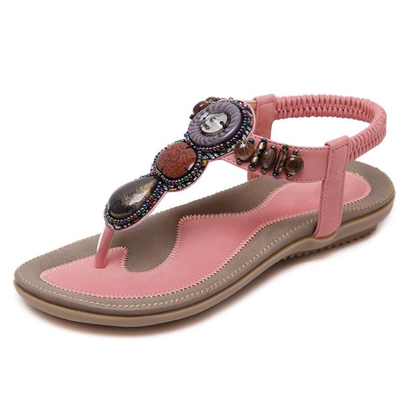 Ericdress Slip-On Thong Flat With Rhinestone Sandals