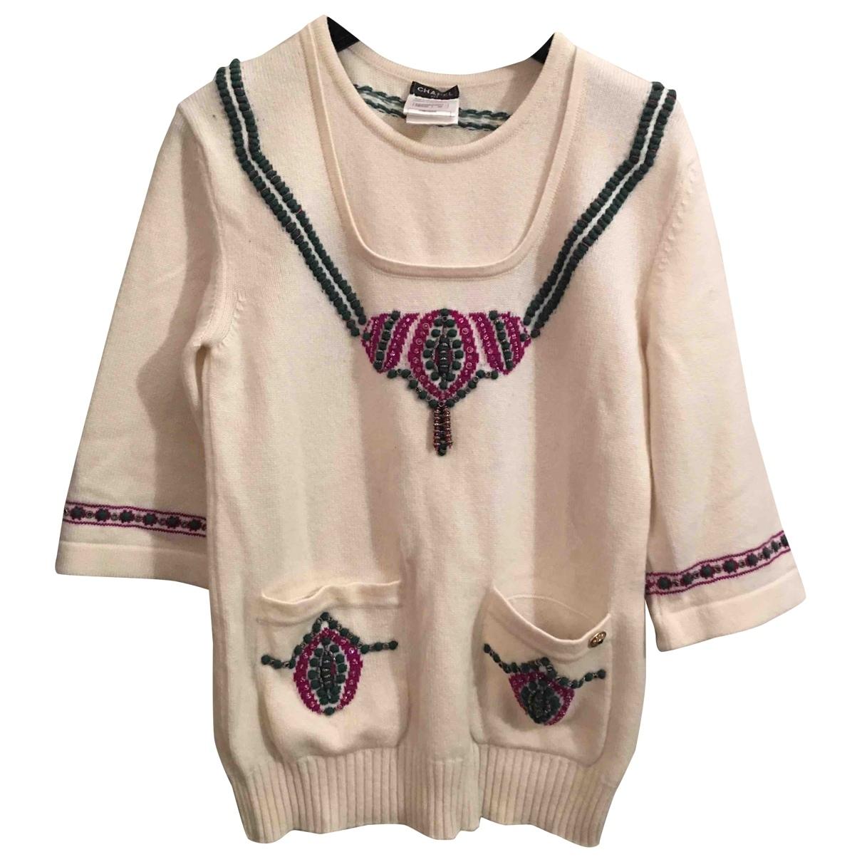 Chanel \N White Cashmere Knitwear for Women 36 FR