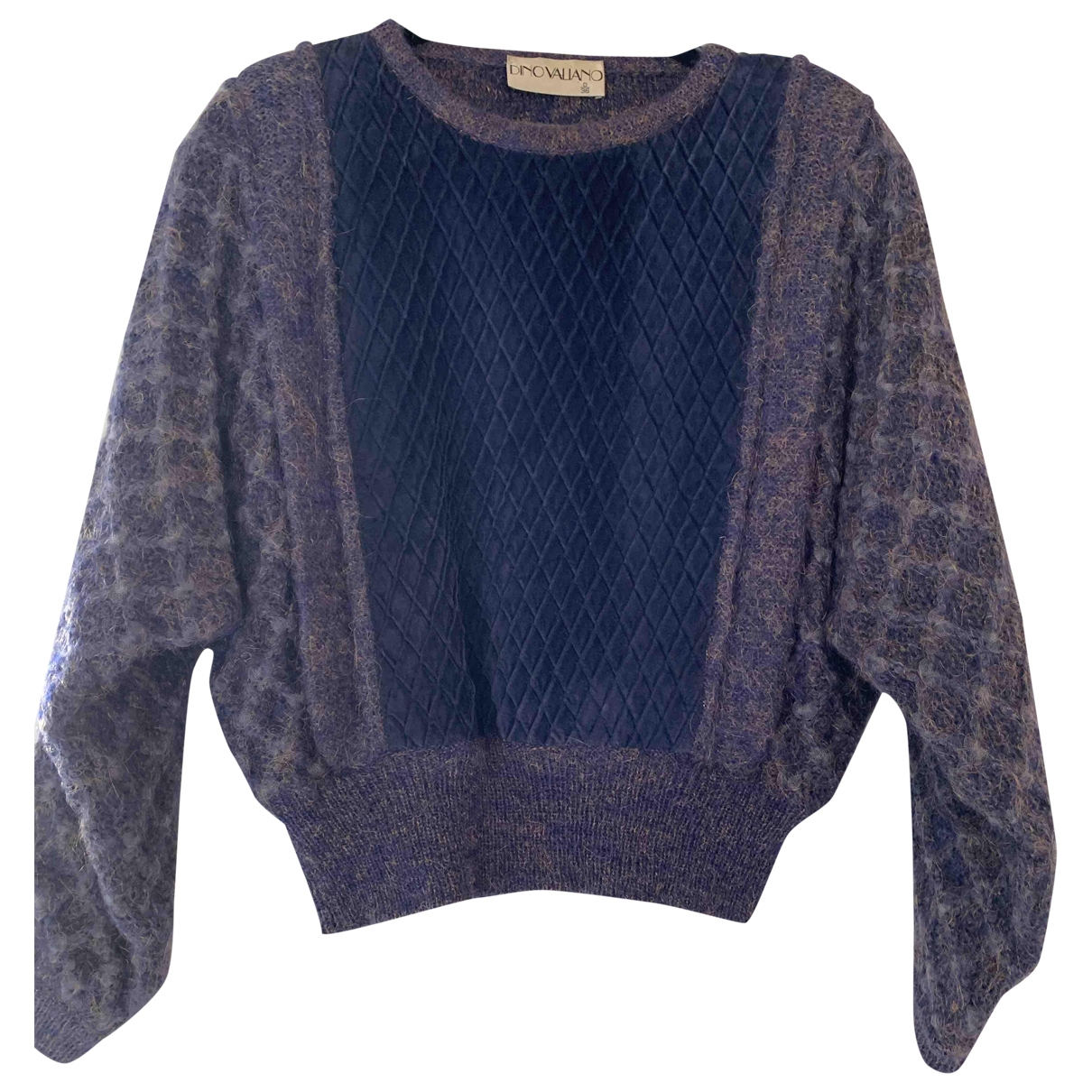 Non Signé / Unsigned \N Navy Wool Knitwear for Women 36 FR