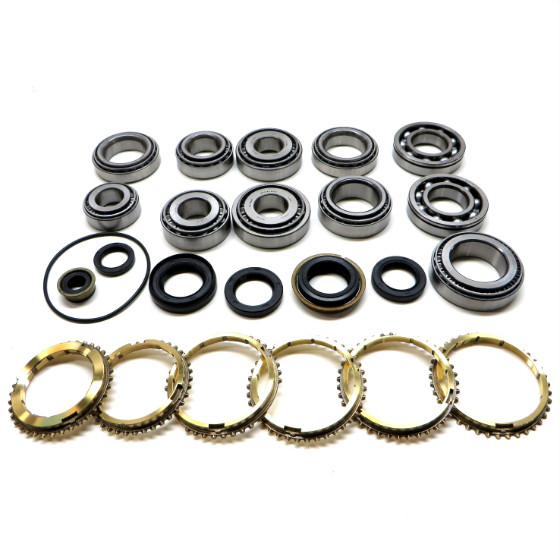 W5M33 Transmission Bearing/Seal Kit w/Synchro Rings 1990-1992 Talon/Eclipse/Galant/Laser AWD Only 5-Speed Manual Trans AWD Single-Piece 2nd Gear Synch
