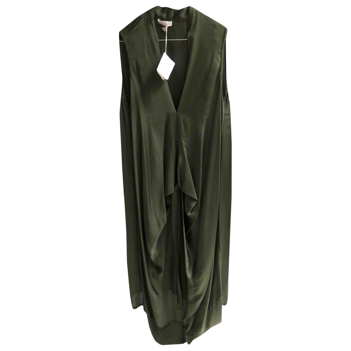 Brunello Cucinelli \N Kleid in  Gruen Seide