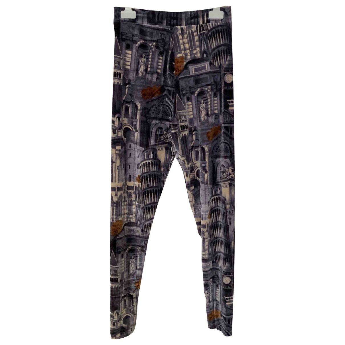 Kenzo \N Multicolour Spandex Trousers for Women 40 FR