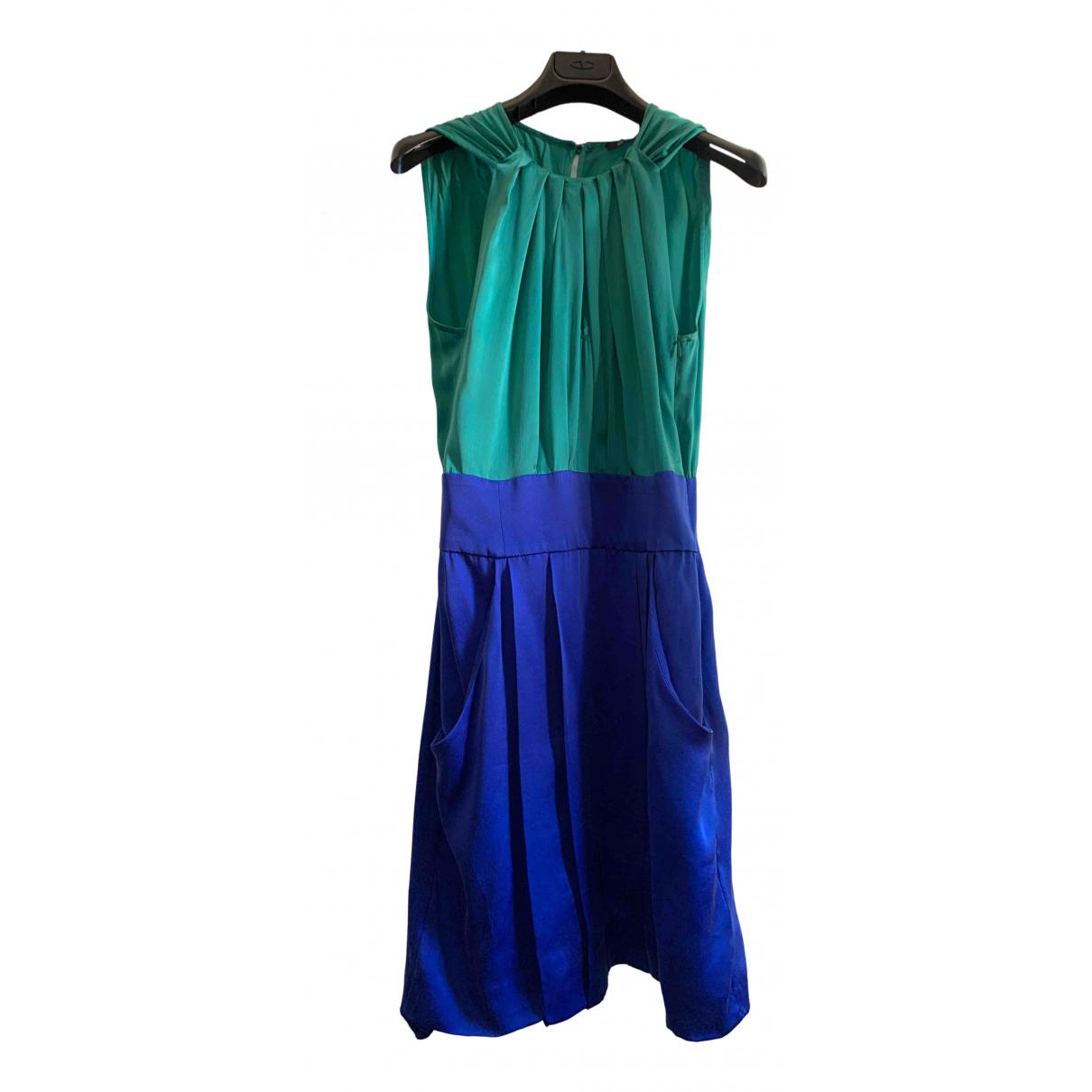 Max & Co \N Green Silk dress for Women 38 IT