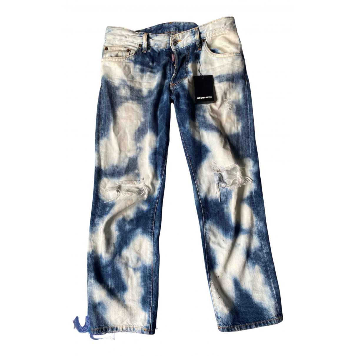 Dsquared2 N Blue Cotton Jeans for Women 25 US
