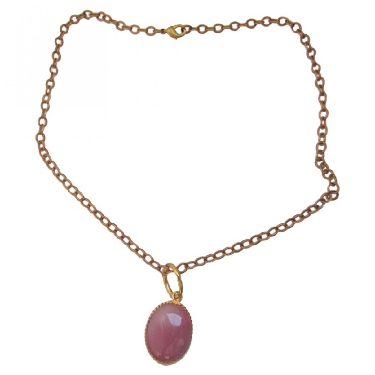 Marguerite De Valois \N Pink Glass necklace for Women \N