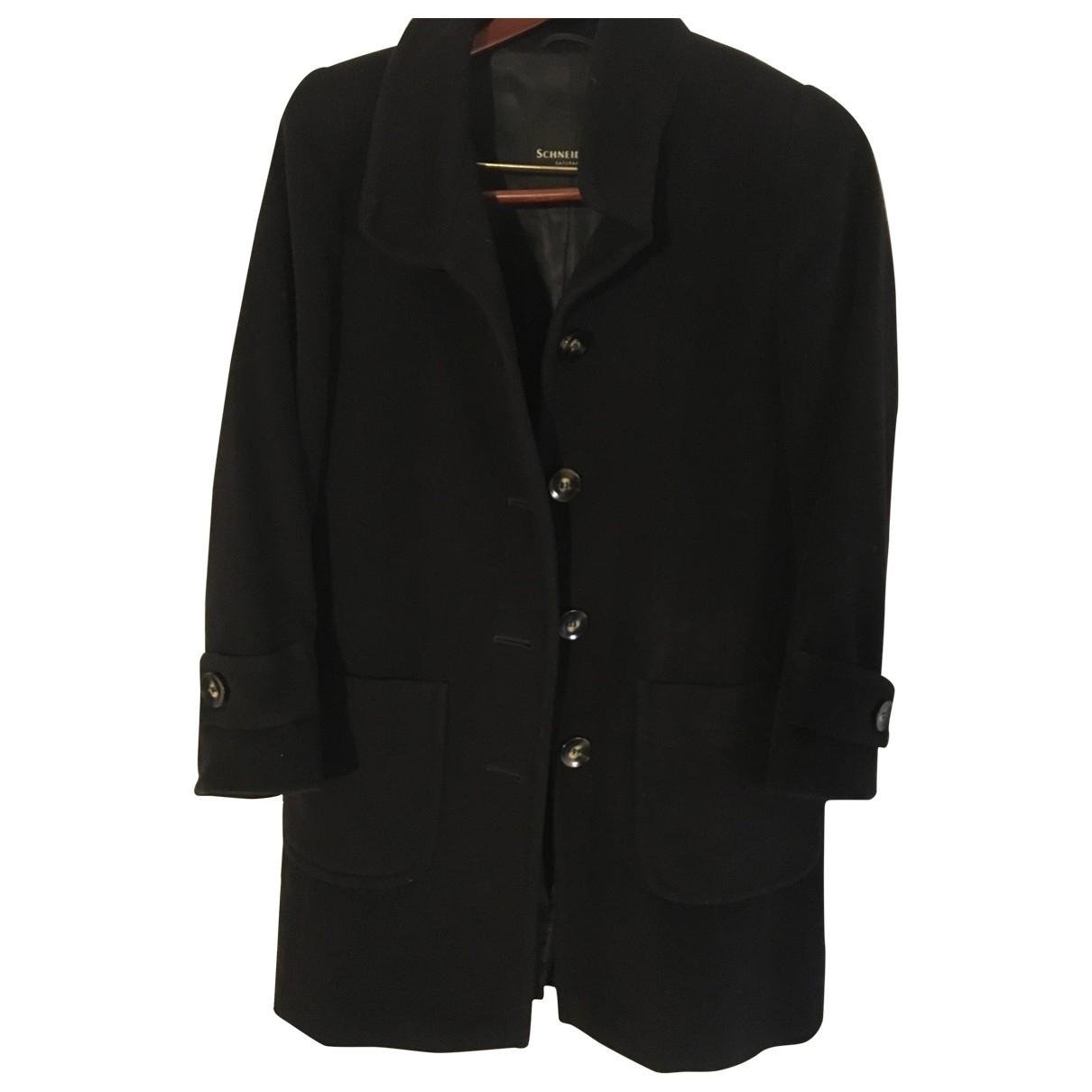 - Manteau   pour femme en laine - marine