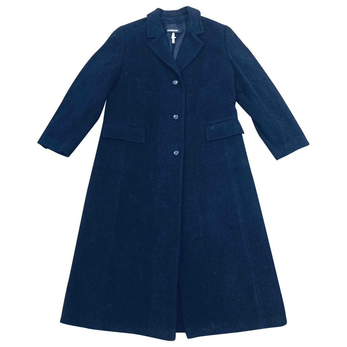Non Signé / Unsigned \N Black Wool coat for Women XXXXL International