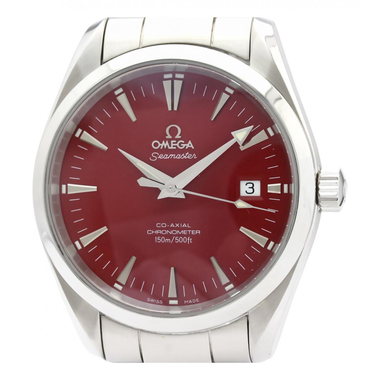 Omega Seamaster Uhr in  Rot Stahl
