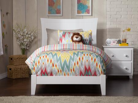 Metro Collection AR9011032 Twin XL Size Traditional Panel Bed with Modern Style  Symmetrical Curvature Frame Design  Low Profile Footboard and