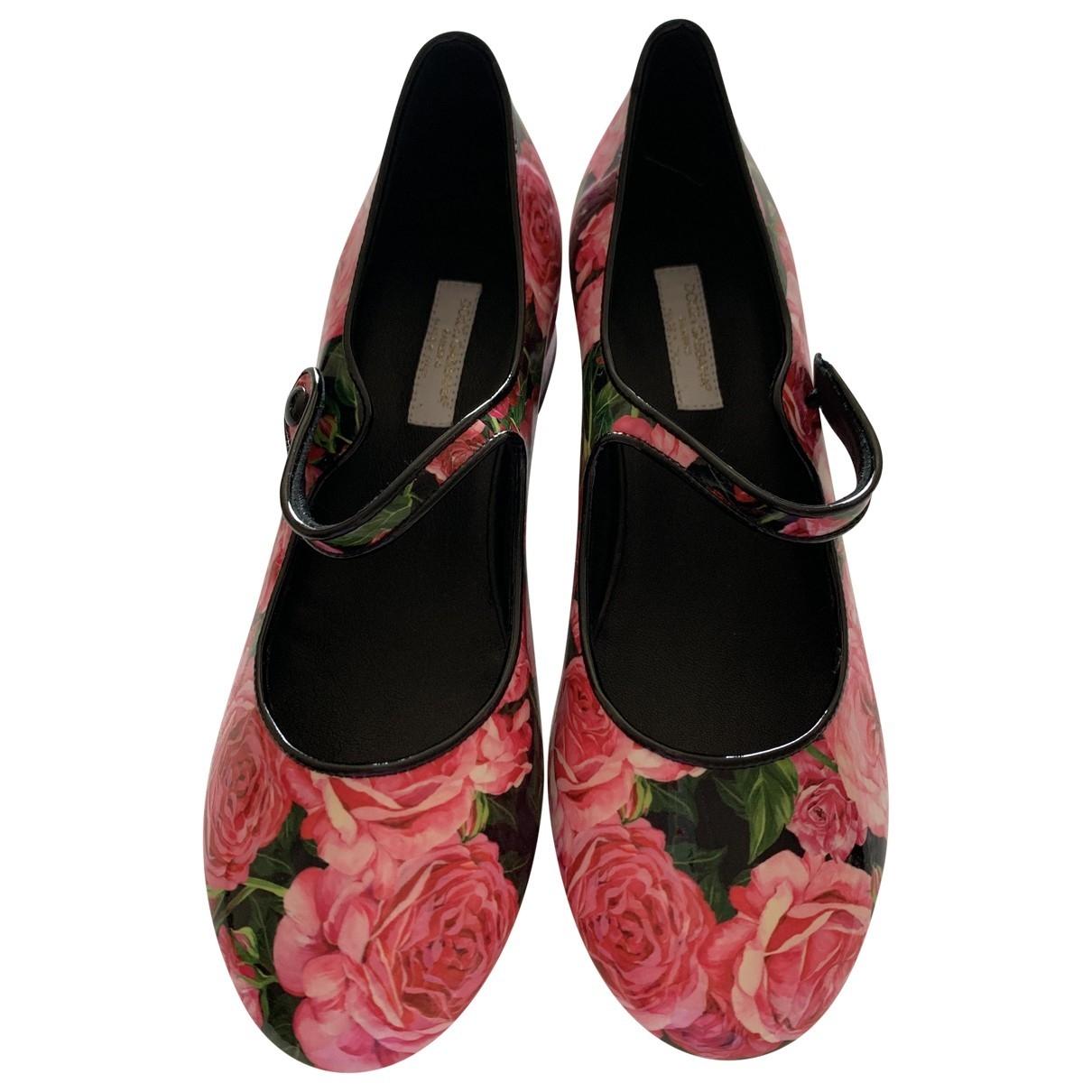 Dolce & Gabbana - Ballerines   pour enfant en cuir