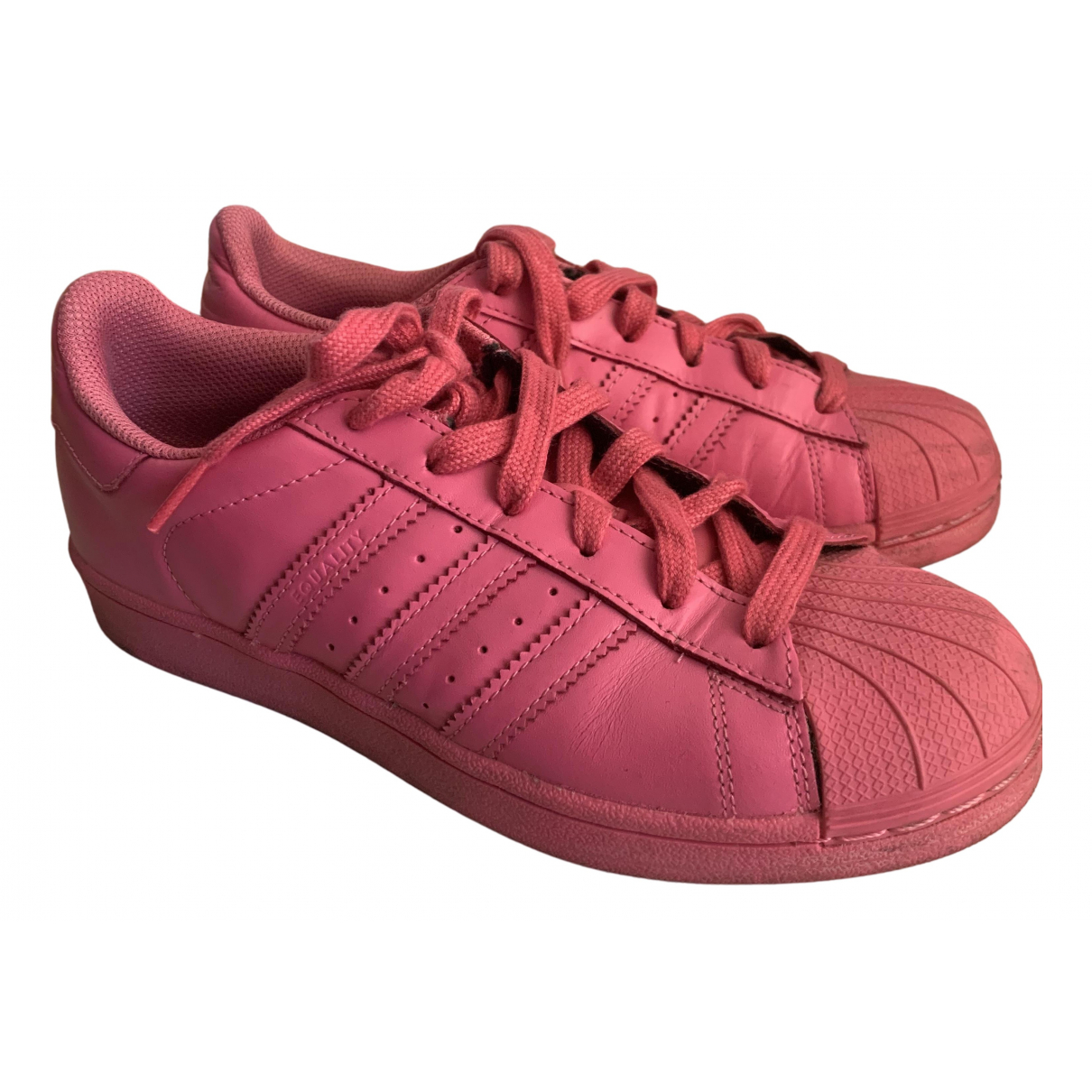 Adidas X Pharrell Williams N Pink Leather Trainers for Women 5 UK