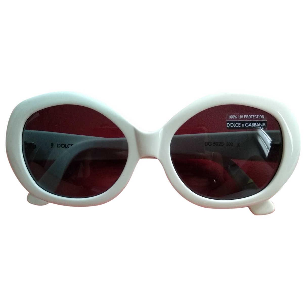Dolce & Gabbana \N Sonnenbrillen in  Weiss Kunststoff