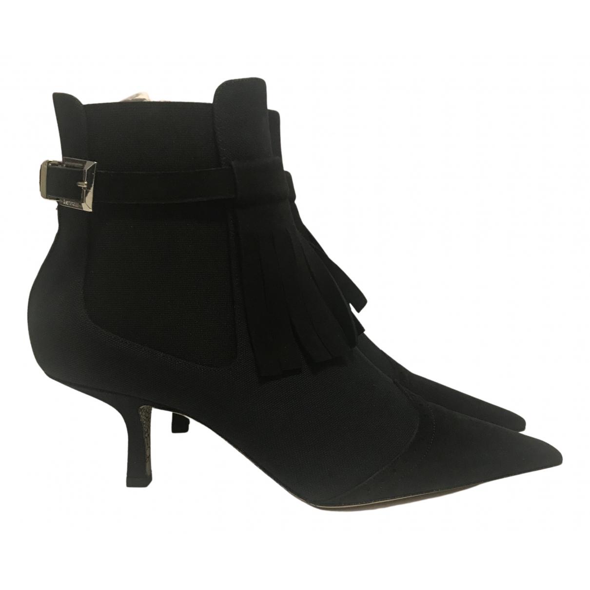 Cesare Paciotti - Boots   pour femme en suede - noir