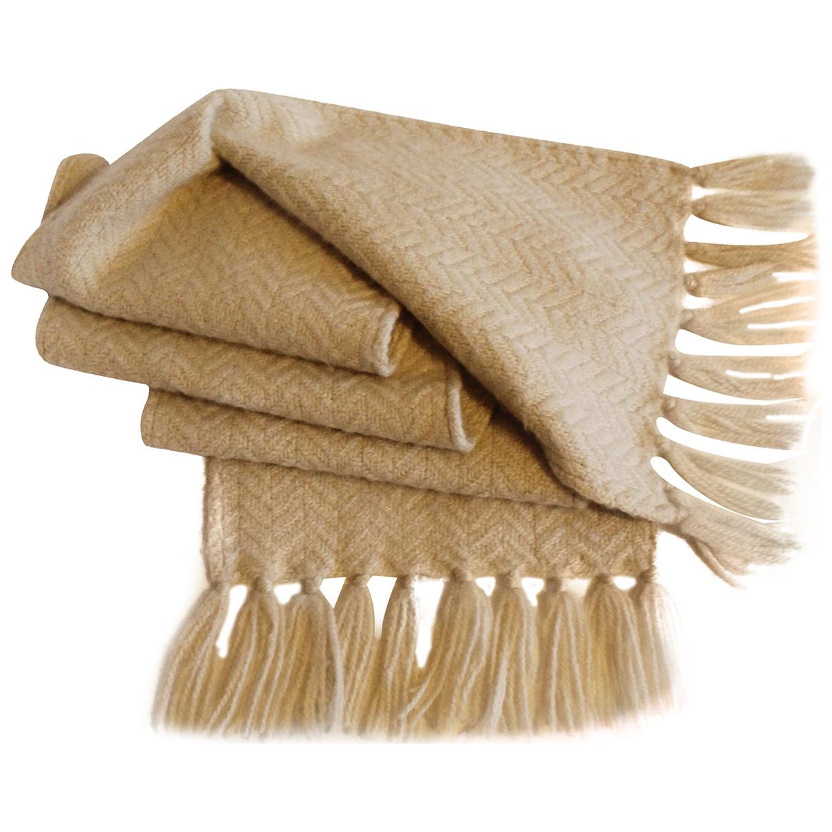 - Cheches.Echarpes   pour homme en laine - ecru