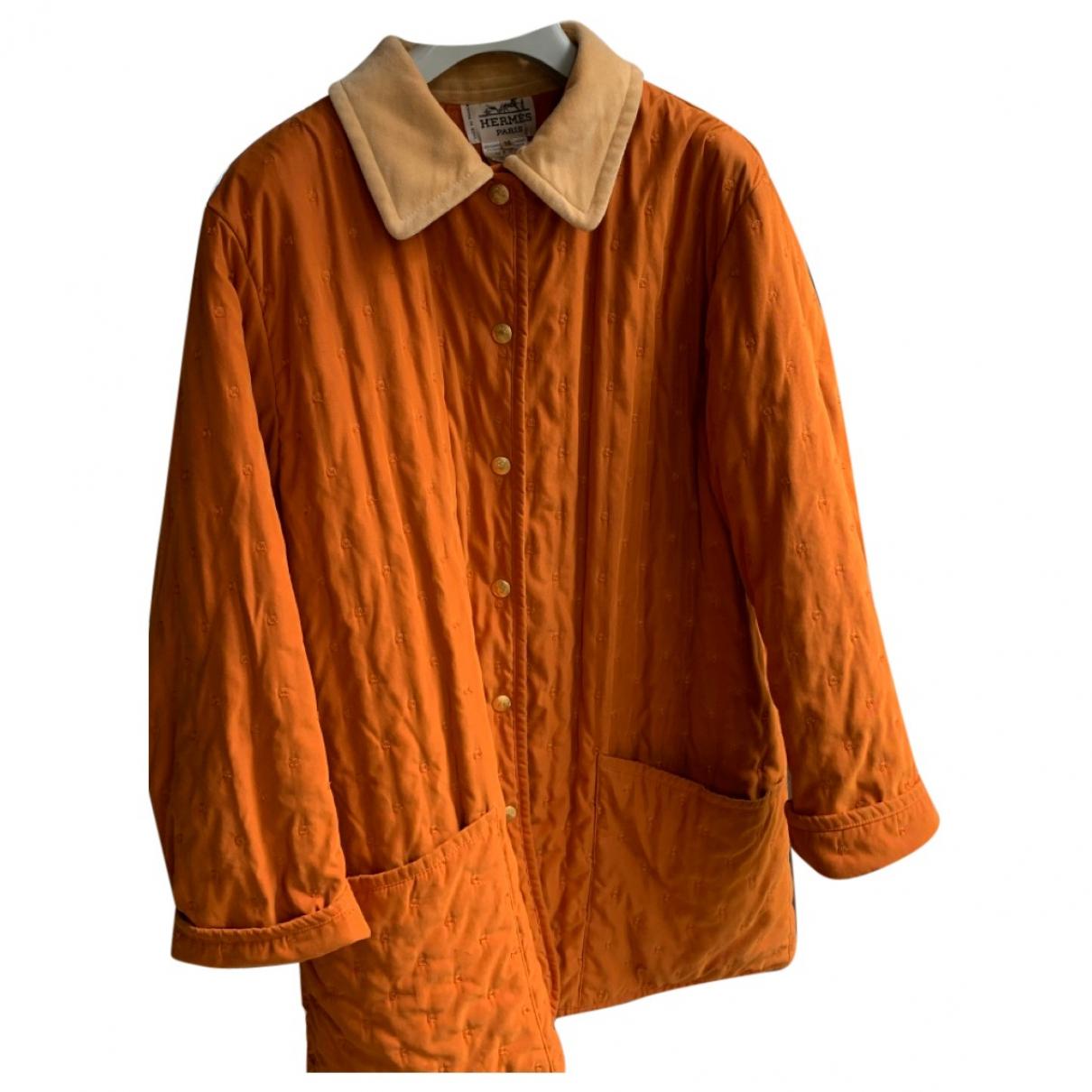 Hermes - Manteau   pour femme - orange