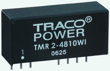 TRACOPOWER TMR 2WI 2W Isolated DC-DC Converter Through Hole, Voltage in 18 → 75 V dc, Voltage out ±5V dc
