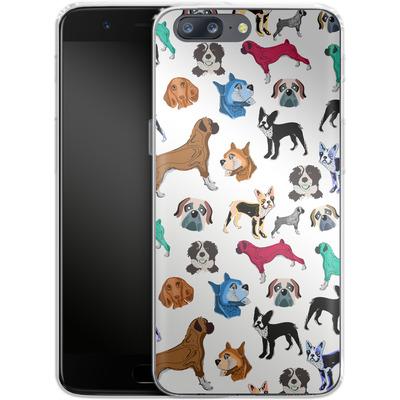 OnePlus 5 Silikon Handyhuelle - Puppy Love von Mukta Lata Barua