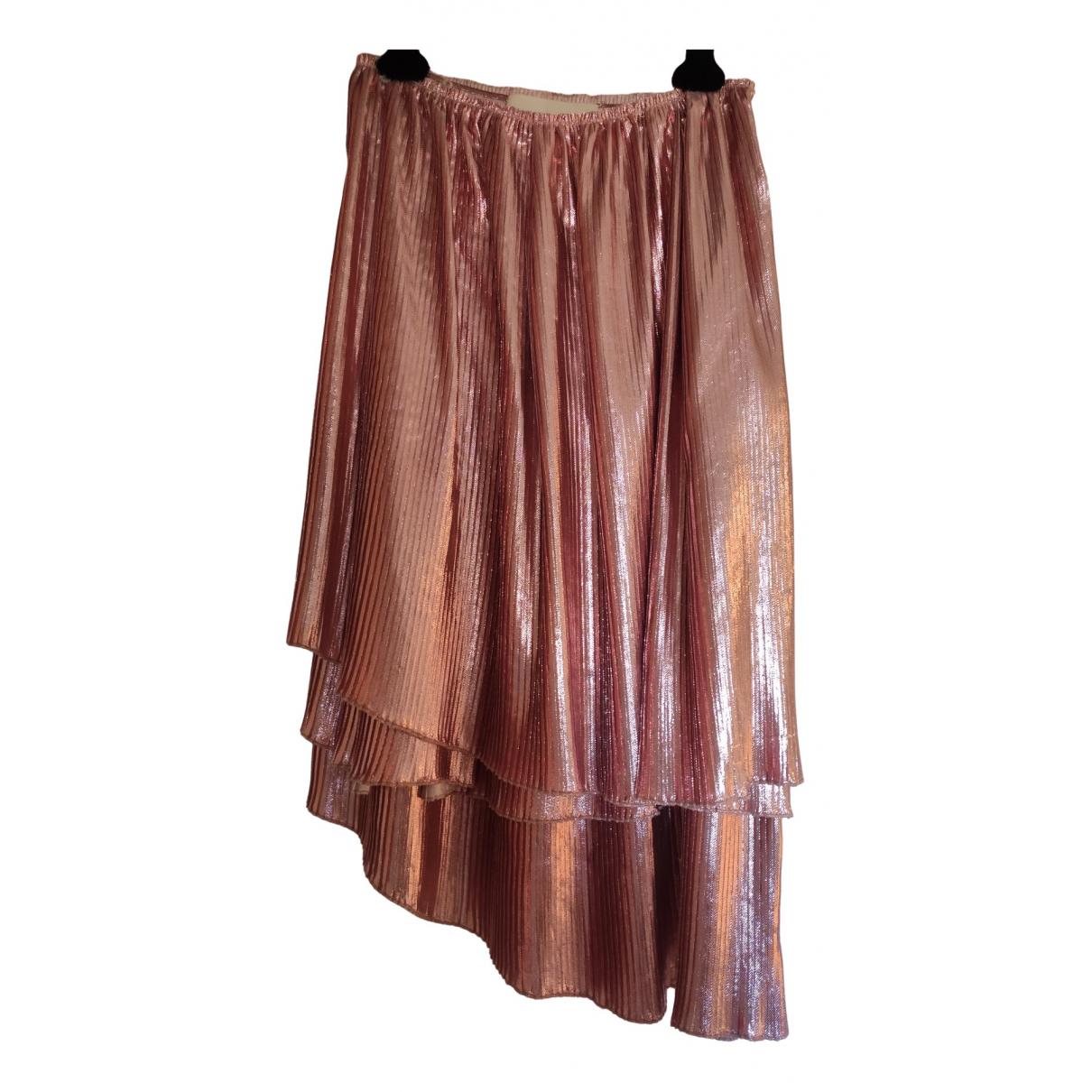 Cédric Charlier \N Pink skirt for Women 40 IT
