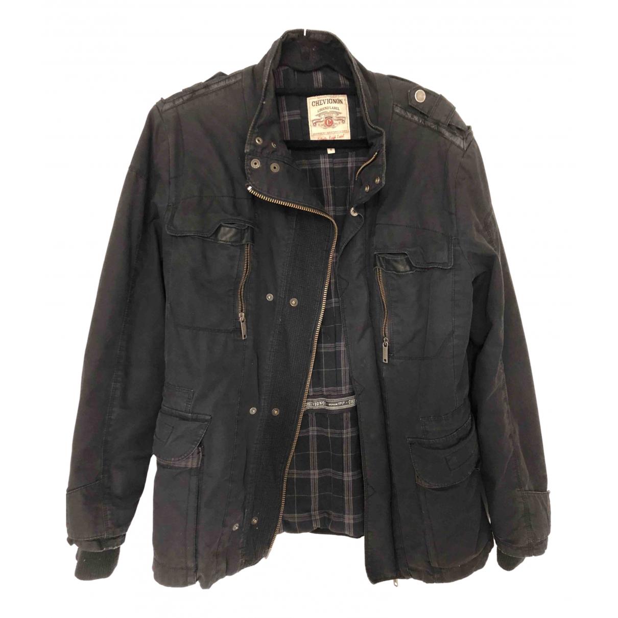 Chevignon - Manteau   pour homme en coton - noir