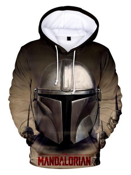 Milanoo Star Wars Cosplay Orange Film Star Wars Polyester Top Top Movie TV Drama Cosplay Costumes