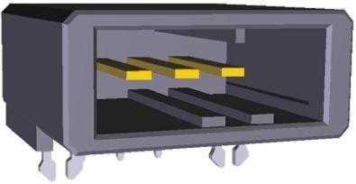 TE Connectivity , Dynamic 3000, 3 Way, 1 Row, Right Angle PCB Header