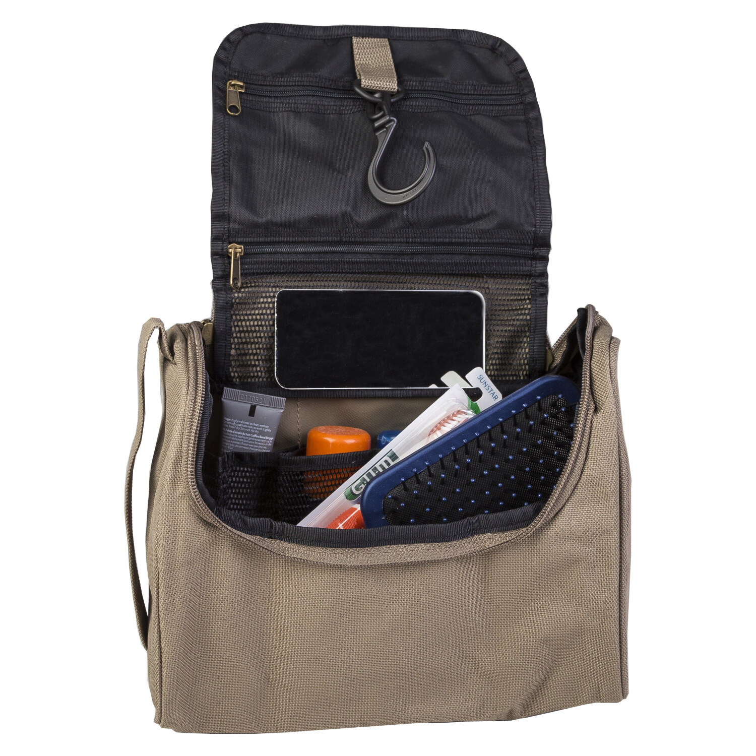 Hanging Travel Toiletry Bag for Men - One Size - Tan