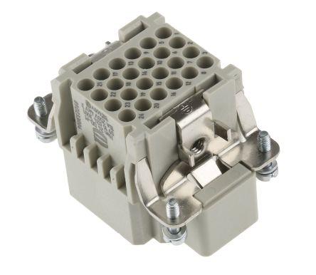 HARTING Han DD Series Power Connector, 24P+E, 10A, 250 V