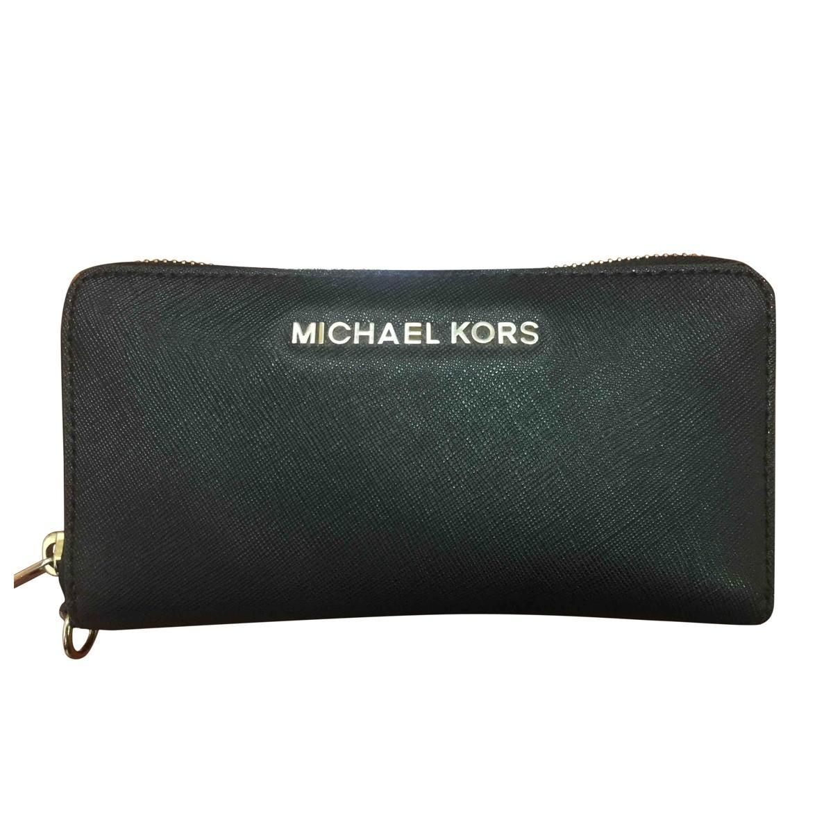 Michael Kors - Portefeuille   pour femme en toile - noir
