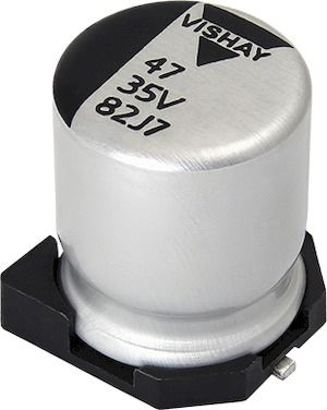 Vishay 100μF Hybrid Capacitor 50V dc, Surface Mount - MAL218297105E3 (500)