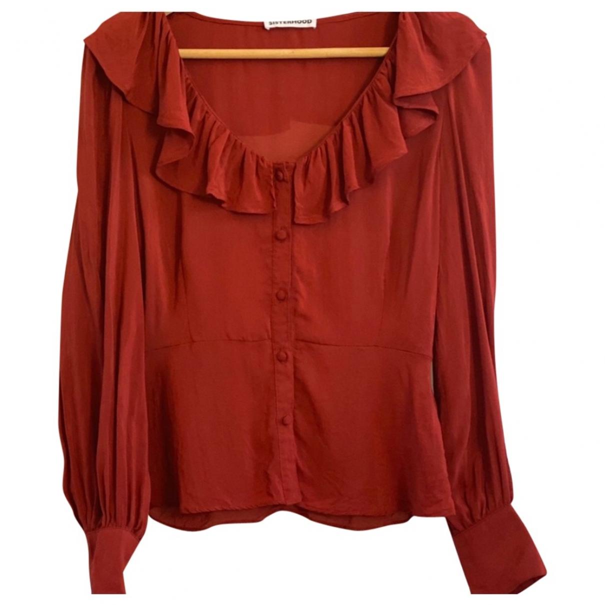Reformation \N Top in  Rot Baumwolle
