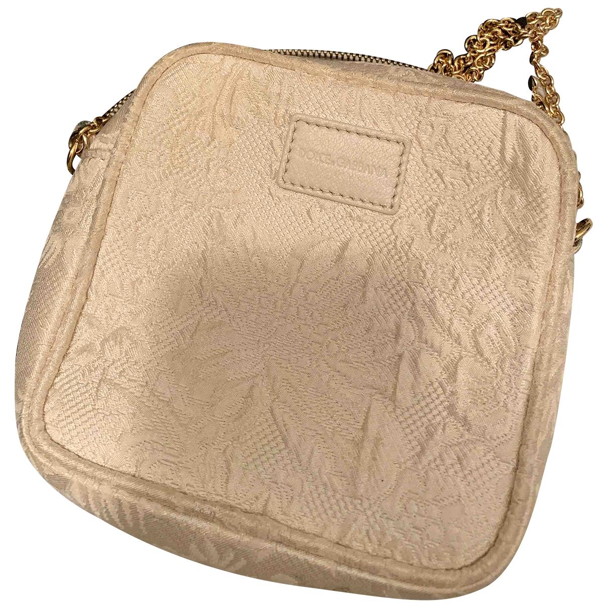 Bolsos clutch en Algodon Beige Dolce & Gabbana