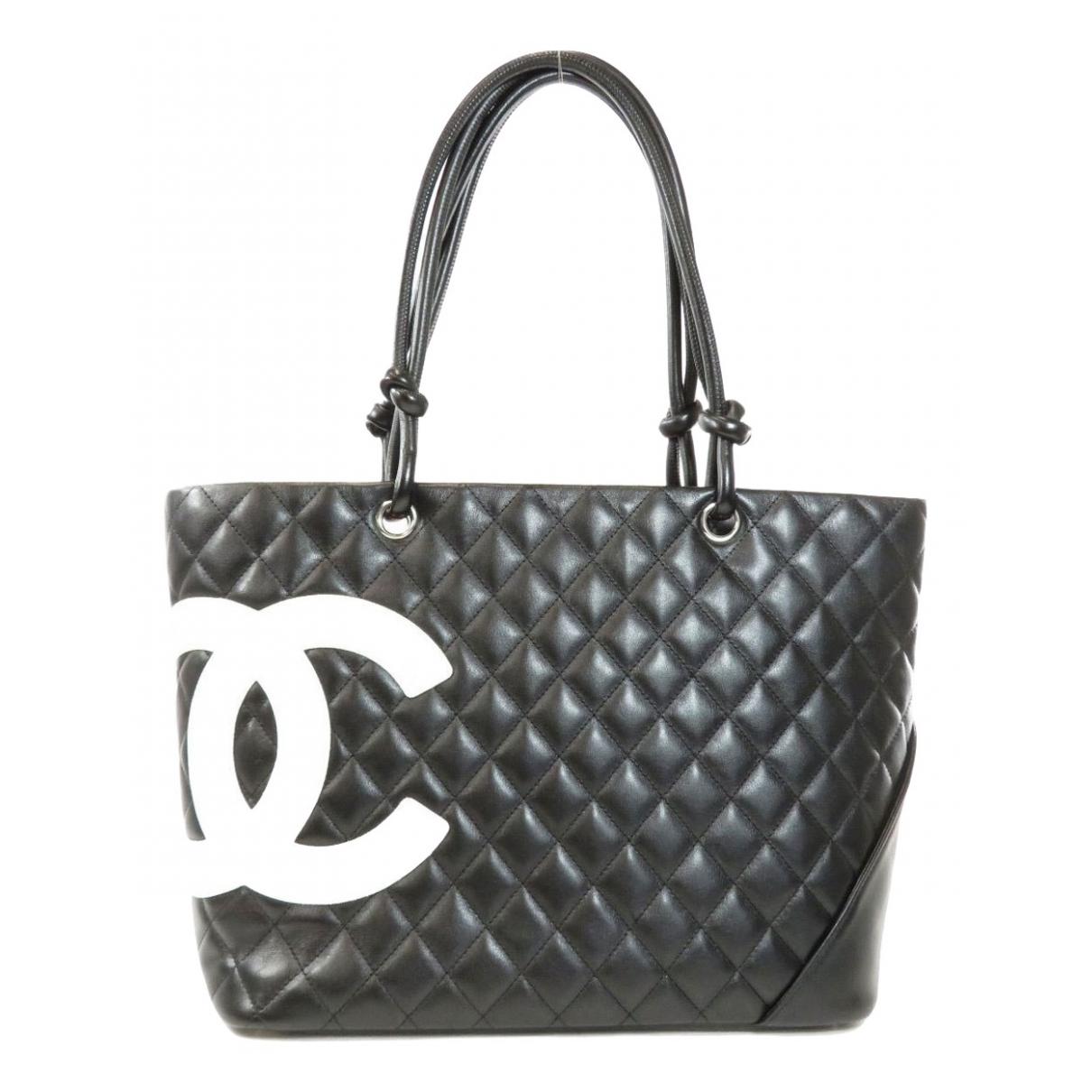 Chanel - Sac a main Cambon pour femme en cuir - noir
