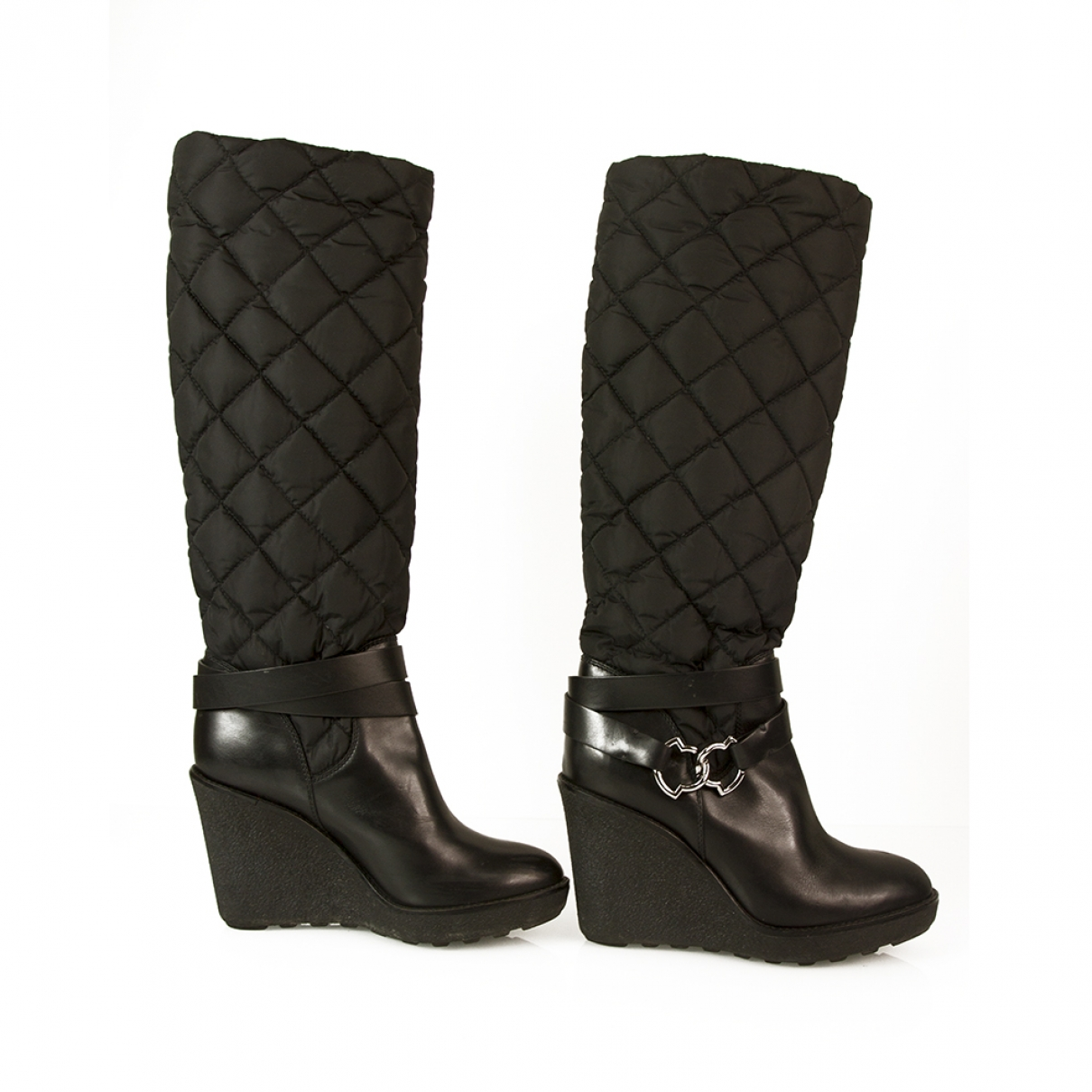 Moncler \N Black Boots for Women 37 EU