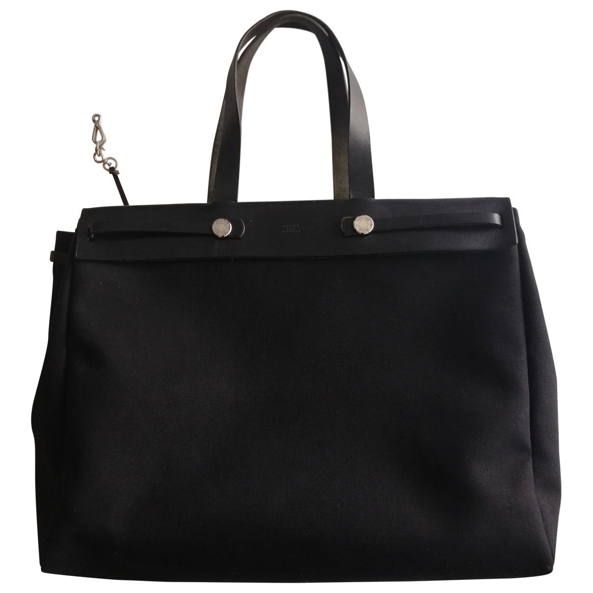Hermès Herbag Black Cloth handbag for Women \N