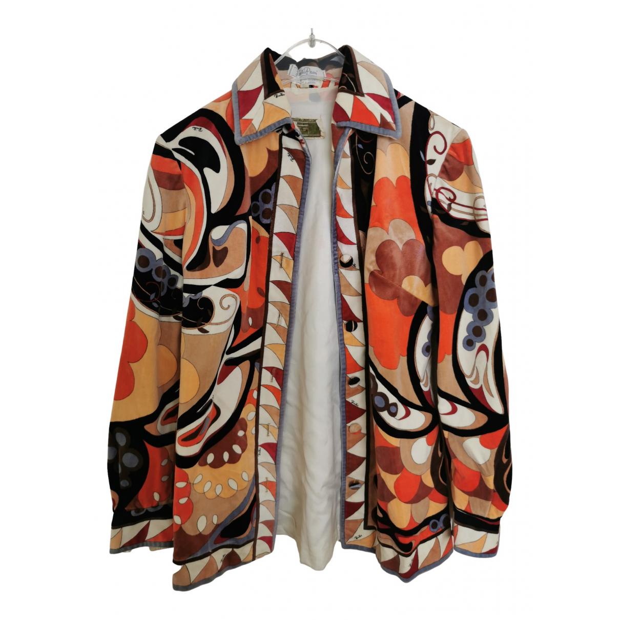 Emilio Pucci \N Multicolour Velvet  top for Women M International