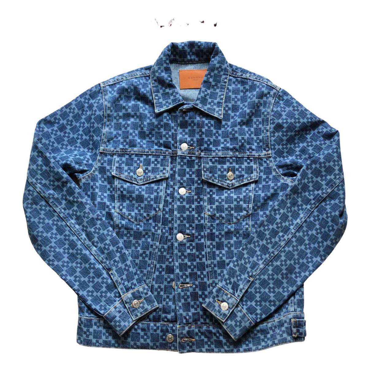 Sandro \N Jacke in  Blau Denim - Jeans