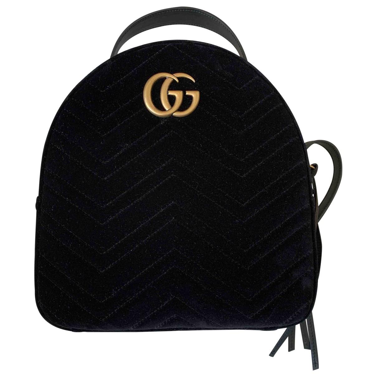 Gucci Marmont Black Velvet backpack for Women \N