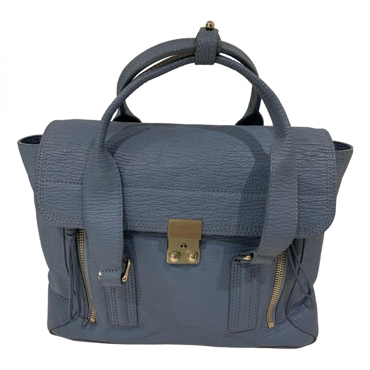 3.1 Phillip Lim Pashli Handtasche in  Blau Leder