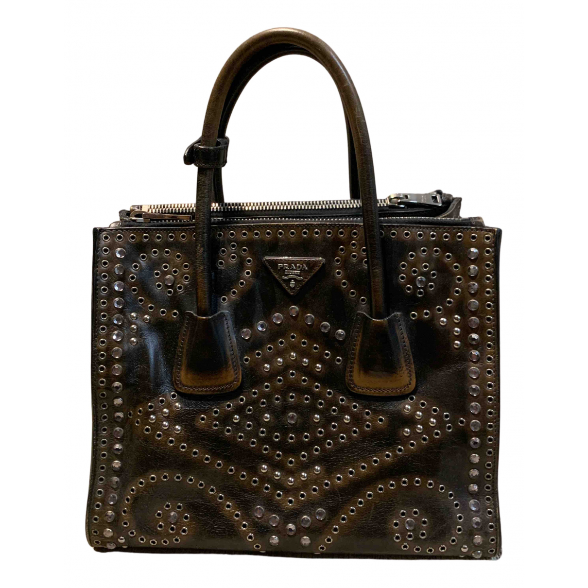 Prada Galleria Brown Leather handbag for Women N