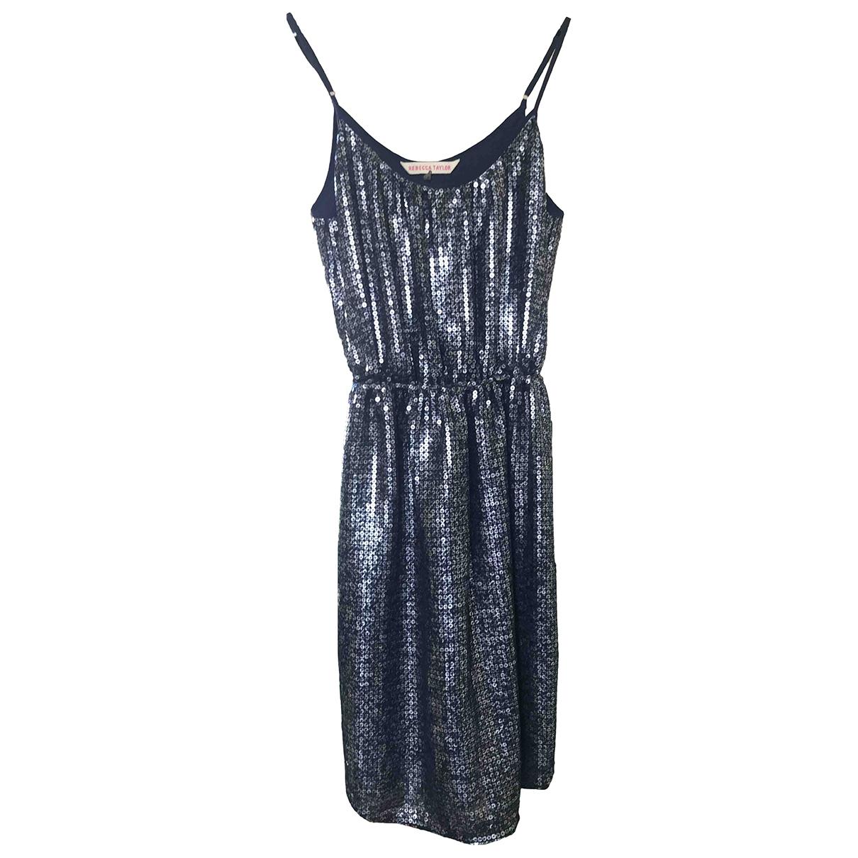 Rebecca Taylor \N Kleid in  Blau Mit Pailletten