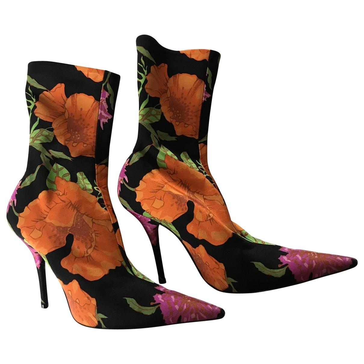 Balenciaga - Boots Knife pour femme en toile - multicolore